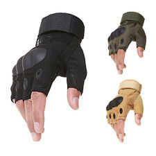 Motorcycle Paintball Tactical Combat Gloves Fingerless Military Riding Gloves