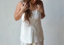 Mirabella Bias Camisole with Adjustable Straps in WINTER WHITE