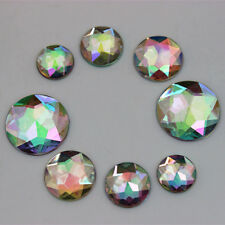 50PCS 12/14/16/20mm Round Acrylic Rhinestones Crystal Flat Back  beads  ZZ89