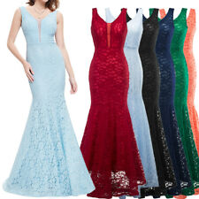 US Women Long Prom Party Dress Formal Evening Gowns Mermaid Wedding Maxi Dress