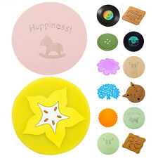 Silicone Cute Button Shape Coaster Cup Cushion Holder Drink Placemat Mat Mirable