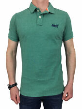 Superdry Mens Classic Fit Pique Polo Shirt in Fresh Mint Grit