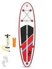 "Two Bare Feet Model One 9'9"" Inflatable Stand Up Paddle Board SUP (Rojo) Packs"