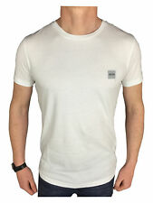 Hugo Boss Mens Orange Label Logo Branded T-Shirt in White