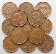 SOUTH AFRICA 2 Cent coins * 1965-1989 * Wildebeest * Complete Your Collection