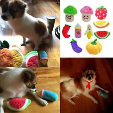 Dog Fruit Vagetable Toy Pet Puppy Plush Sound Chew Squeaker Squeaky Plush Toy LD