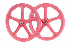 "SKYWAY UT TUFF 20"" BMX MAG WHEELS 5 SPOKE 80's STYLE BIG SAVING PINK UTILITY"