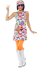 Ladies 1960s Groovy Chick Hippie Hippy Fancy Dress 60s Costume (44911)