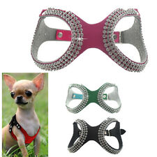 Cute Teacup Dog Harness Vest Pet Puppy Cat Collar for Chihuahua yorkie XXXS/XXS