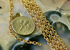Solid Red Brass Link Chains necklace cable chain 3.5x2.5mm c52 4ft PICK