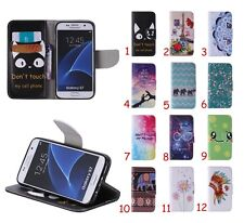 Fashion Stand Flip Leather Card Wallet Case Rubber Soft Cover For Samsung Galaxy