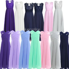 Girls Cross Backless Chiffon Flower Princess Pageant Party Wedding Tulle Dresses
