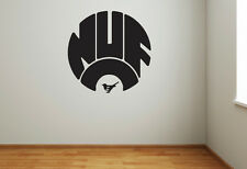 Newcastle United Retro Crest Wall Sticker - Chant Decal Football Vinyl Poster Pr
