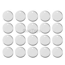 20pcs Alloy Round Pieces Pendants Charms w/Hole for Jewelry Making Crafts 11mm