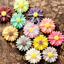 Resin Flatback Cabochons Cameo Flower 13/22/27mm Embellishments 12 Colors BF