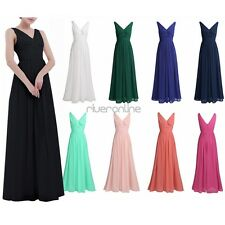 Women Bridesmaid Ball Prom Gown Formal Party Evening Cocktail Wedding Long Dress
