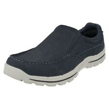 Mens Skechers Trainer/Loafer Casual Shoes Style-Braver Navid