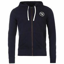 SoulCal Signature Full Zip Hoody Mens Navy Hoodie Sweatshirt Jacket