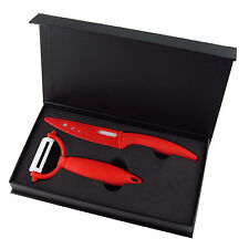 "4""+Peeler Ultra Sharp Kitchen Ceramic Cutlery knife Sets Red Blue Green Black"