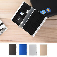 New Metal Aluminum Memory Card Protecter Box Storage Case Holder for SD/TF/CF