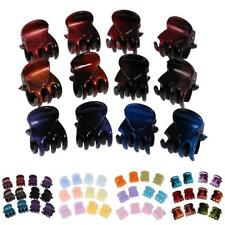 12 Pieces/Lot Wholesale Lady Girl Mini Hair Resin Claws Clamps Clips Hair Grips