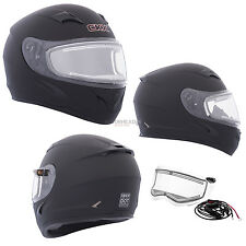 Snowmobile Helmet Full Face Electric Double Lens Medium CKX RR610 Mat Black