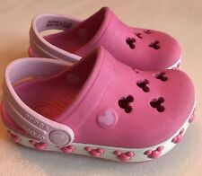 Crocs Crocband Clog Slip-on. Toddler Girls Size 4/5.  Pink Mickey Mouse Disney!