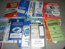 MANCHESTER UNITED AWAY PROGRAMMES 1958-70