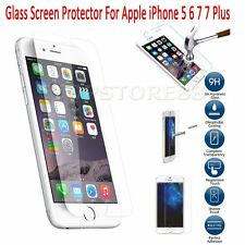 Premium Screen Protector Real Tempered Glass Film for Apple iPhone 5 6 6s 7 Plus