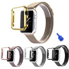 Stainless Steel Strap Watch Band+Adapter+Case Cover for Apple Watch 38/42mm AU