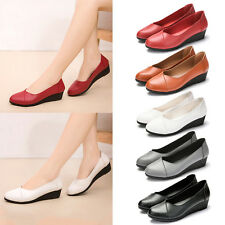Summer Women's Ladies Low Heels Wedges Pumps Work Shoes Flats Oxfords Casual