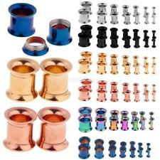 14Pcs Stainless Steel Flared Ear Plugs Expander Stretcher Tunnels Plugs Piercing