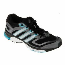 adidas Response Cushion Running Shoe Women Blk/Blu Trainers Sneakers Sports Shoe