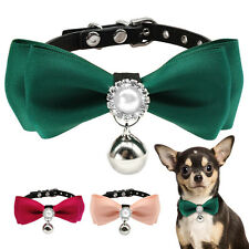 Cute Bow Tie Dog Collars Pet Cat Puppy Necktie with Bell Accessory for Chihuahua