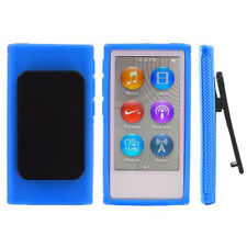 TPU Rubber Soft Skin Cover Case with Belt Clip For iPod Nano 7 7G 7th Gen