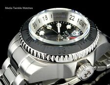Invicta Reserve 52mm HYDROMAX Swiss Quartz GMT Black Dial Bracelet Watch BNIB