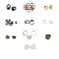 10 Pieces Bezel Adjustable Ring Bases Tray Blank Setting Crafts Jewelry Findings