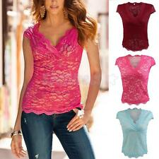 Fashion Womens Blouse Tank Tops Lace Sleeveless Vest Top T Shirt Casual Tops