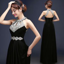 Formal Long Beads Evening Prom Party Dress Bridesmaid Dresses Ball Gown Cocktail