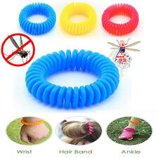 10pc Anti Mosquito Insect Repellent Wrist Hair Band Bracelet Camping Outdoor