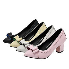 kala party high heels court Shoes Pointed Toe Career Womens Pumps Plus Size