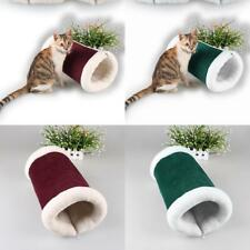 Amazing Foldable Fleece Pet Mat Bed Kitten Cat Play Tunnel Squeaky Sound Toy