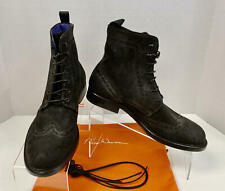 Noah Waxman Limited Edition SoHo Brown Suede Mens Boots HANDMADE in ITALY