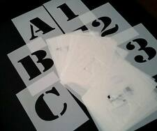 approx 4 inches / 10cm HEIGHT ARMY STYLE STENCILS Alphabet Letters and Numbers