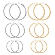 Fashion Women Girls Punk Alloy Smooth Large Round Hoop Earrings 40mm 60mm 80mm