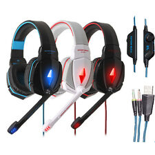Gaming Headset Surround Stereo Headphone With Mic Volume Control For PC 3.5mm