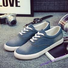 Mens Shoes Denim Canvas Male Lace Up Casual Sport Sneakers Oxfords Hot Flats New