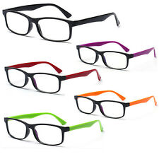 Black Frame Unisex Classic Retro Glasses Clear Lens Vintage Trendy Glasses Lot
