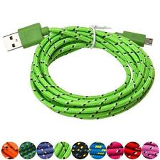 3M/10FT Hemp Rope Micro USB Charger & USB Sync Data Cable Cord For Cell Phone