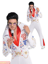 Mens King Of Vegas Costume Adult Elvis 50s Music Celebrity Fancy Dress Outfit